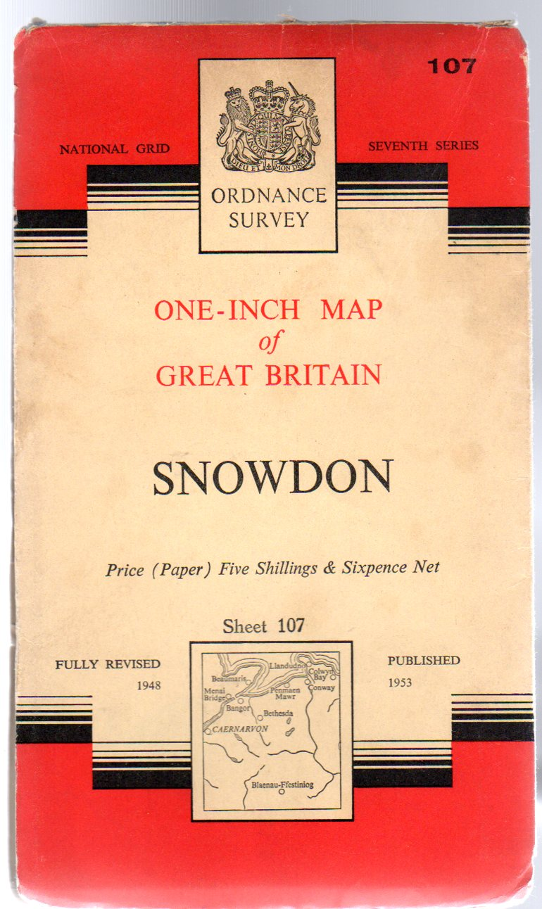 Image for Ordnance Survey  One-Inch Map of Great Britain 107 Snowdon