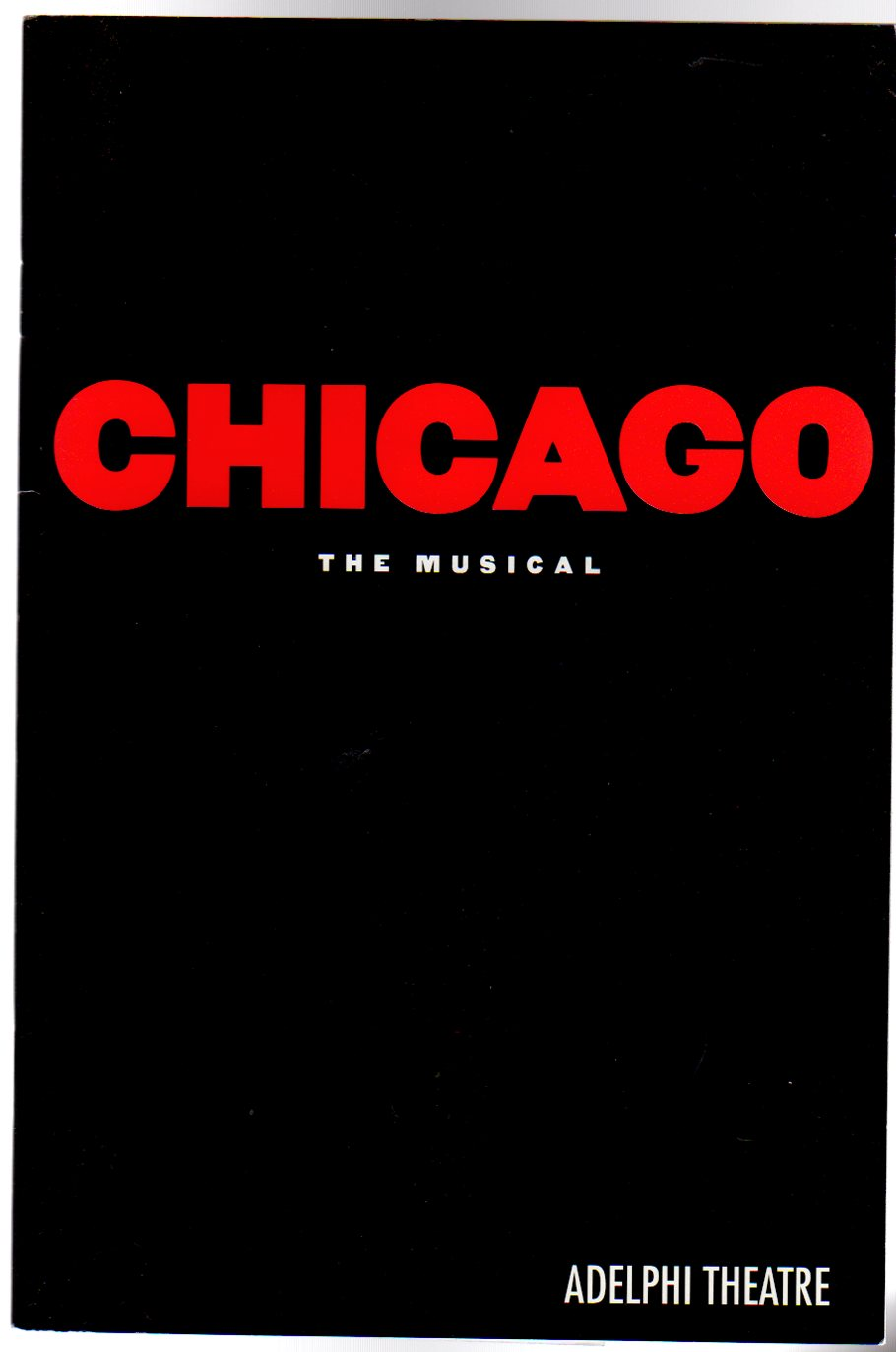 Image for Chicago : The Musical   (THEATRE PROGRAMME)
