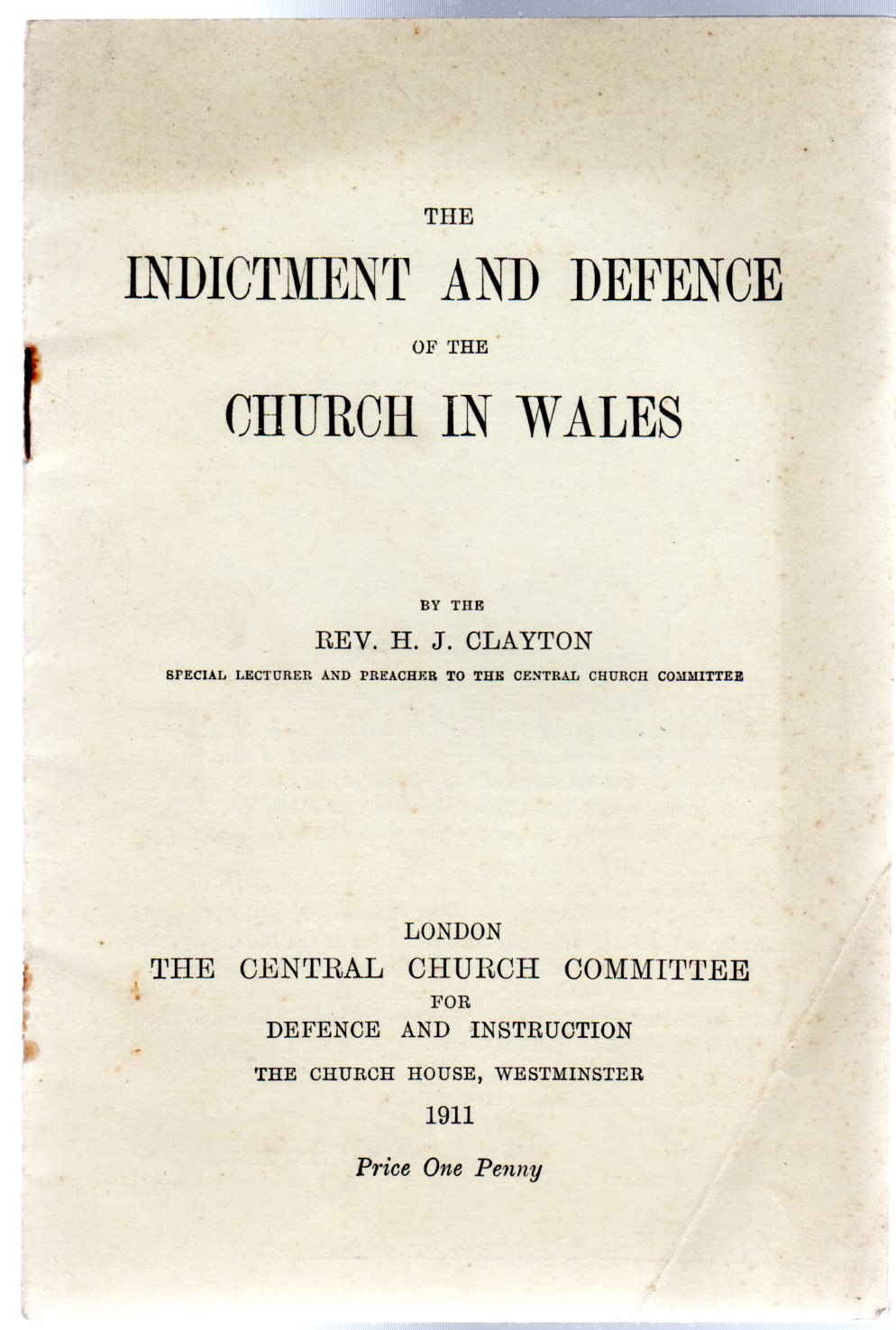 Image for The Indictment and Defence of the Church in Wales