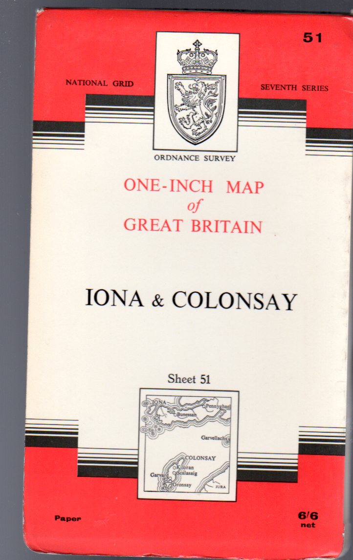 Image for Ordnance Survey  One-Inch Map of Great Britain Sheet  51 Iona & Colonsay