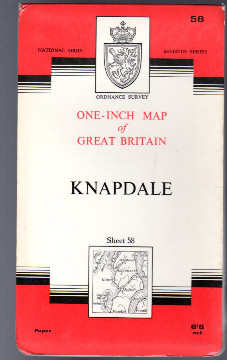 Image for Ordnance Survey  One-Inch Map of Great Britain Sheet 58 Knapdale