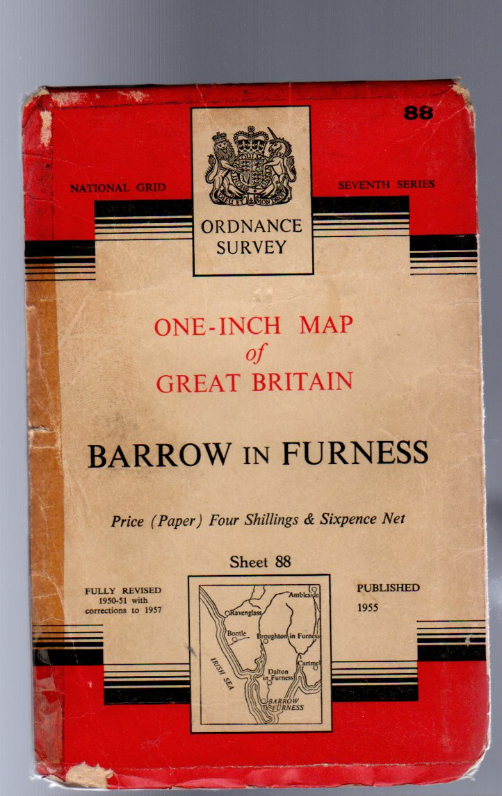 Image for Ordnance Survey  One-Inch Map of Great Britain Sheet 88 Barrow-in-Furness