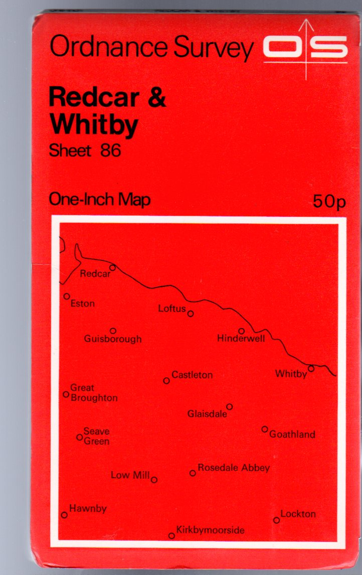 Image for Ordnance Survey  One-Inch Map of Great Britain Sheet 86 Redcar & Whitby