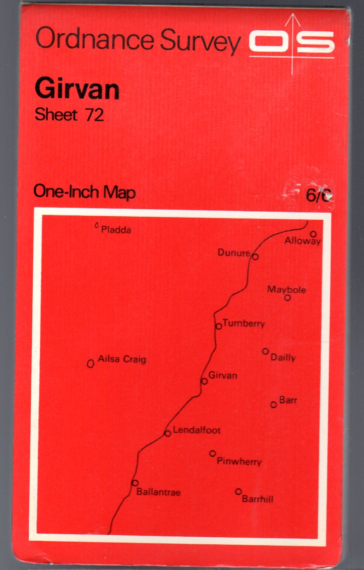 Image for Ordnance Survey  One-Inch Map  Sheet 72 Girvan