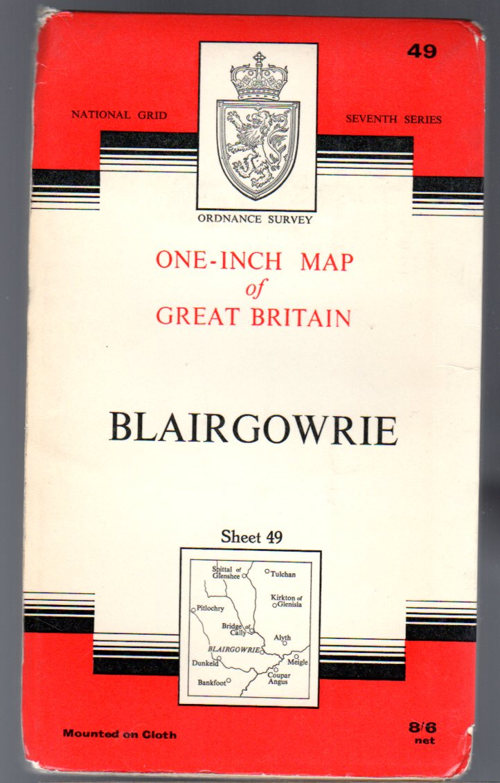 Image for Ordnance Survey  One-Inch Map of Great Britain Sheet 49 Blairgowrie