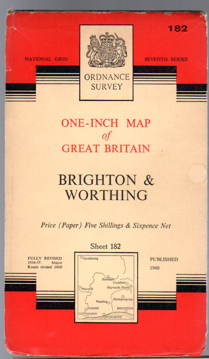 Image for Ordnance Survey  One-Inch Map of Great Britain Sheet  182 Brighton  & Worthing