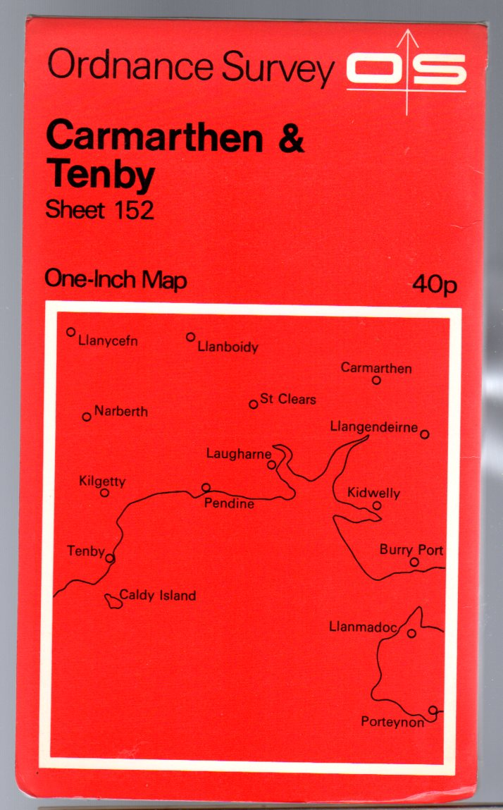 Image for Ordnance Survey  One-Inch Map Sheet 152 Carmarthen & Tenby