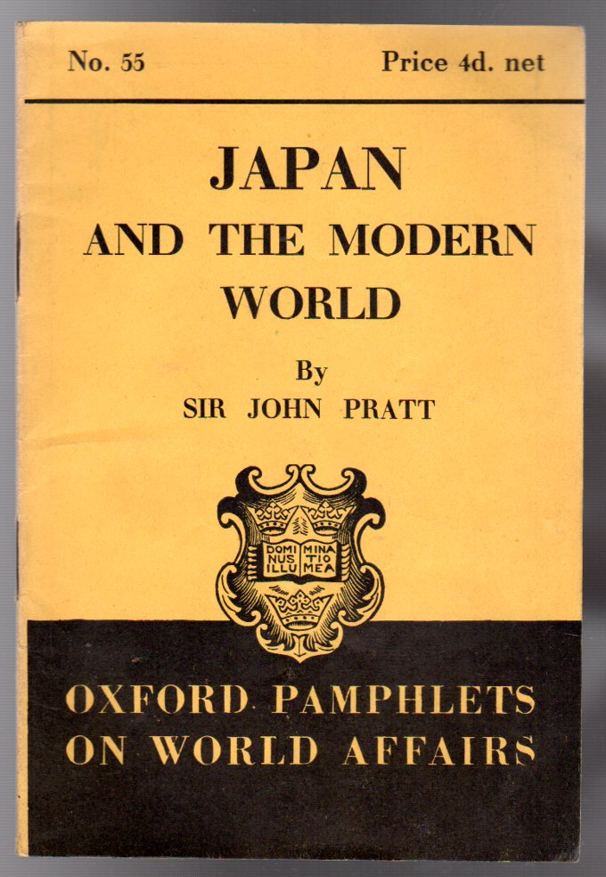 Image for Japan and the Modern World - Oxford Pamphlets on World Affairs