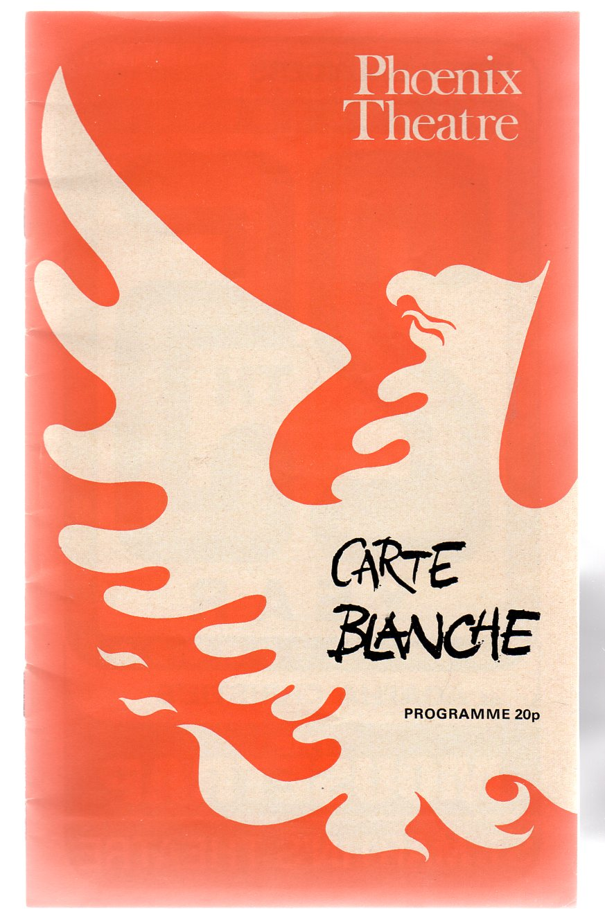 Image for Carte Blanche (THEATRE PROGRAMME)