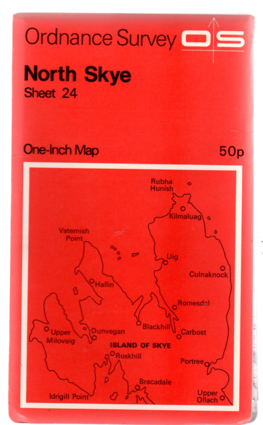 Image for Ordnance Survey  One-Inch Map North Skye Sheet 24