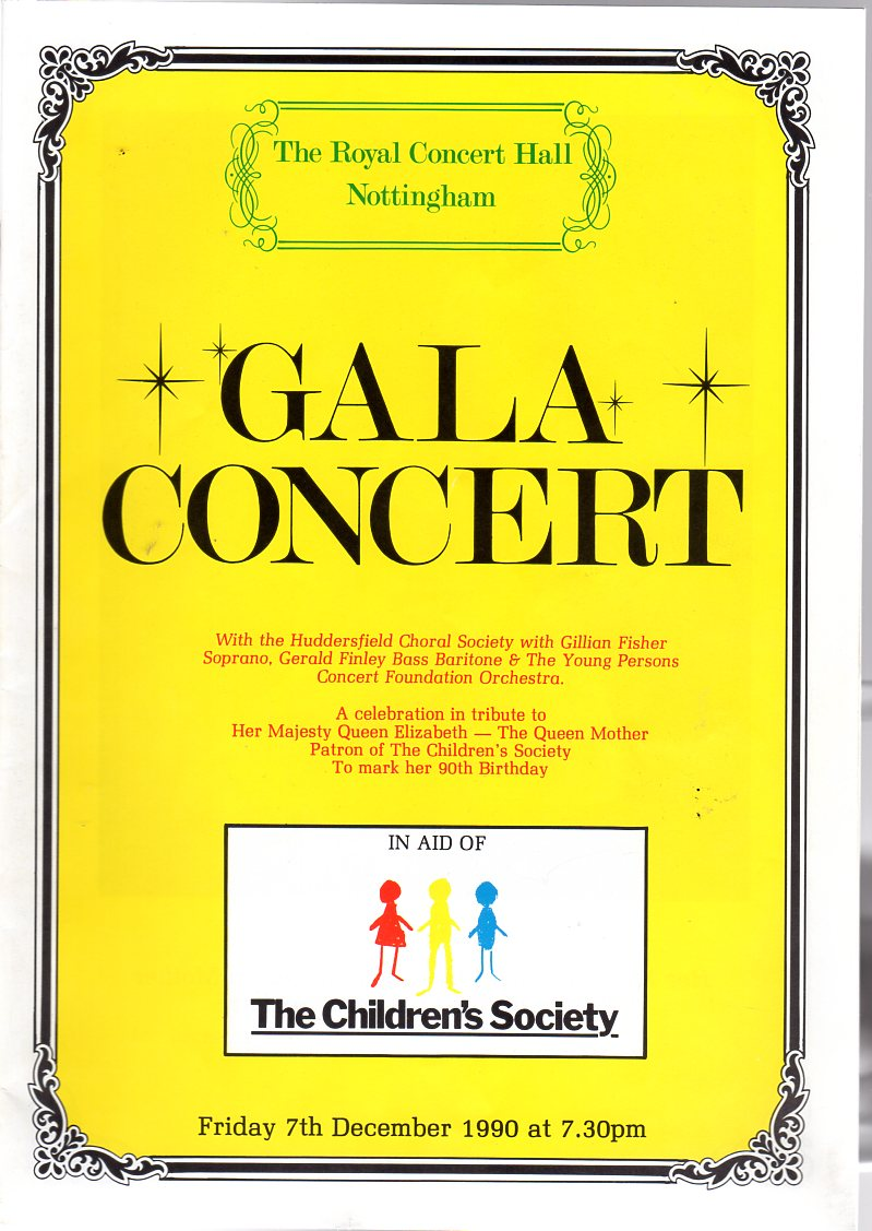Image for Gala Concert  (THEATRE PROGRAMME)