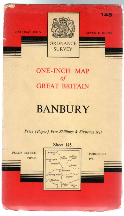 Image for Ordnance Survey  One-Inch Map of Great Britain - Sheet   145 - Banbury