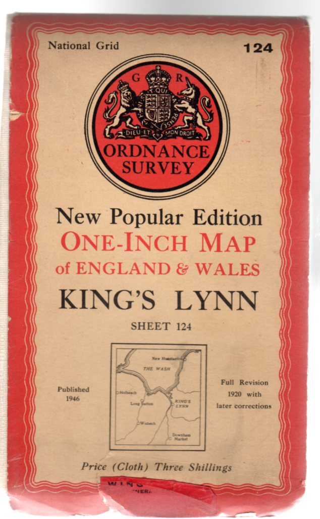 Image for Ordnance Survey New Popular Edition One-Inch Map of England & Wales Sheet 124 King's Lynn
