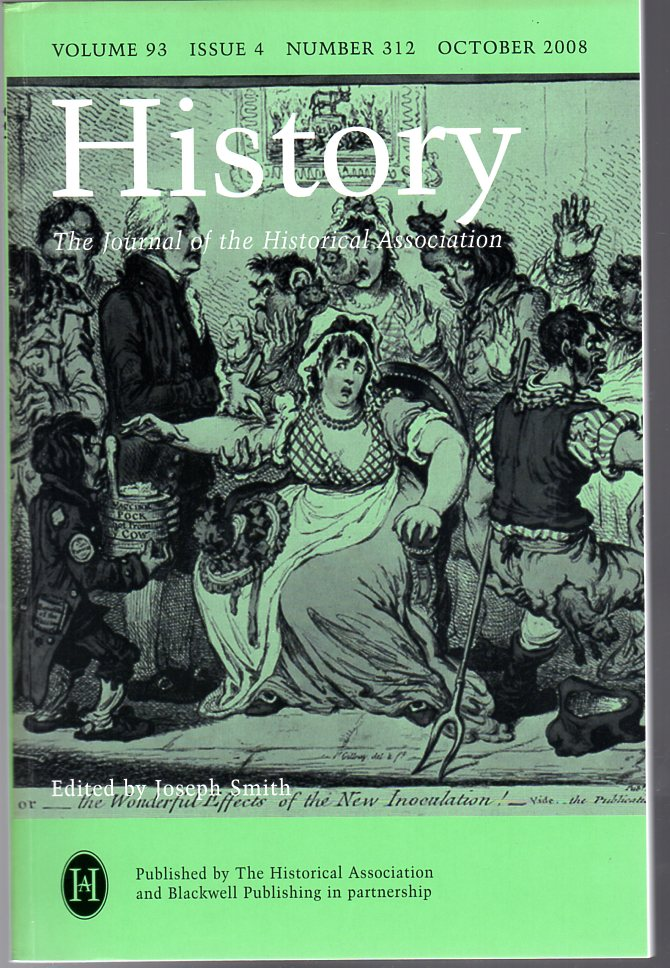 Image for History : The Journal of the Historical Association - Volume 93 Issue 4 Number 312 : October 2008