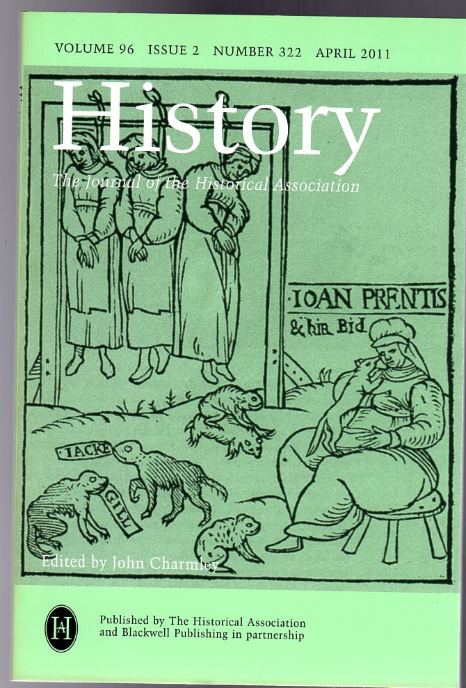Image for History : The Journal of the Historical Association - Volume 96 Issue 2 Number 322 : April 2011