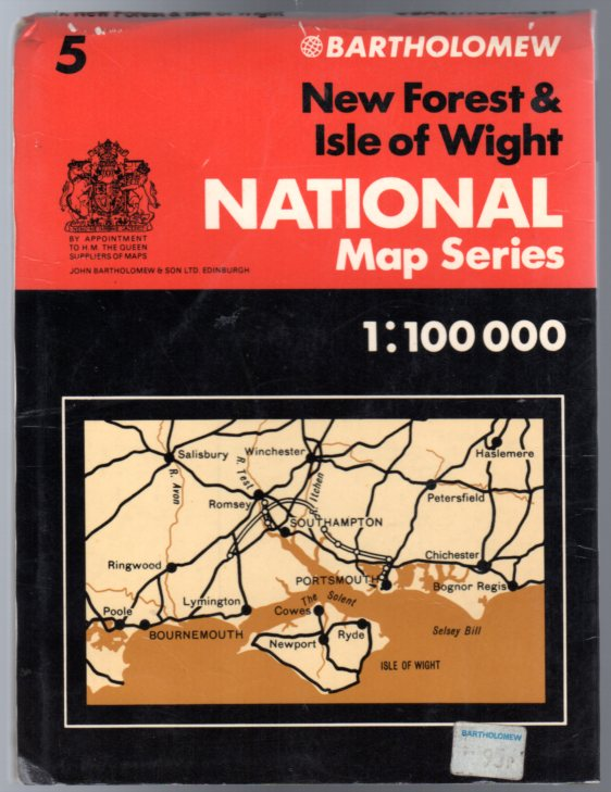 Image for Bartholomew National Map Series. Sheet 5 New Forest & Isle of Wight  1:100000