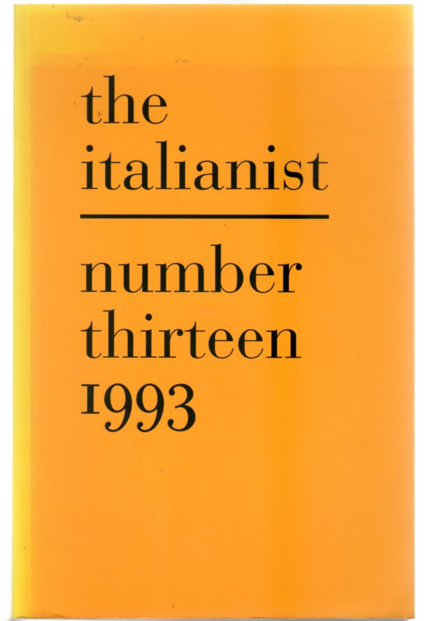 Image for The Italianist : Number Thirteen 1993