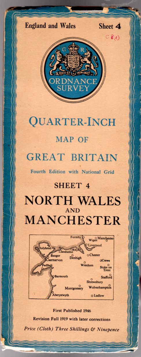 Image for Ordnance Survey Quarter-Inch Map of Great Britain Sheet 4 North Wales & Manchester