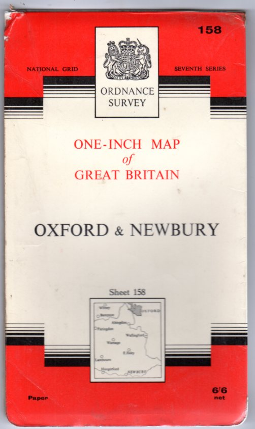 Image for Ordnance Survey  One-Inch Map of Great Britain Sheet 158 Oxford & Newbury