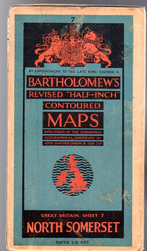 """Image for Bartholomew's Revised """"Half-Inch"""" Contoured Maps - Great Britain, Sheet 7 North Somerset"""