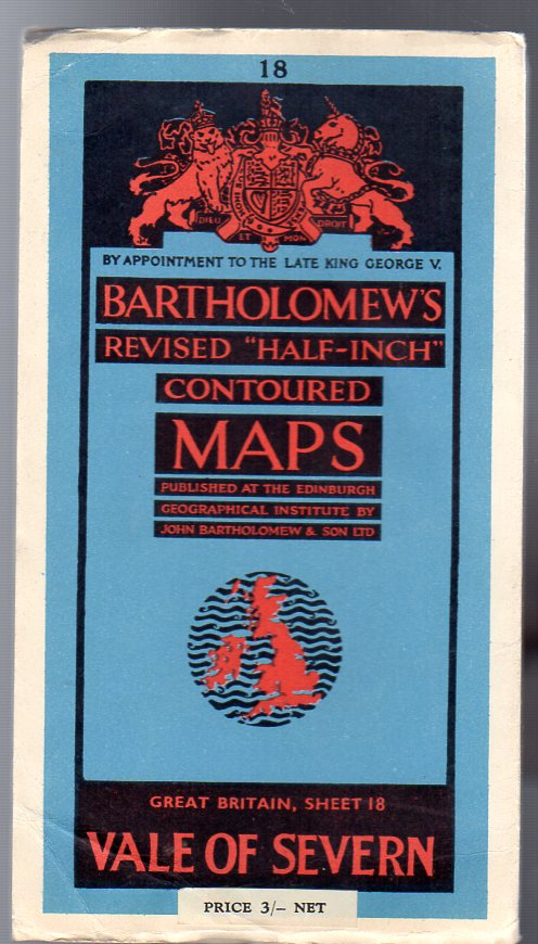 "Image for Bartholomew's Revised ""Half-Inch"" Contoured Maps - Great Britain, Sheet 18 Vale of Severn"