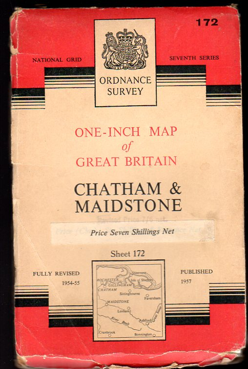 Image for Ordnance Survey  One-Inch Map Sheet 172 Chatham & Maidstone