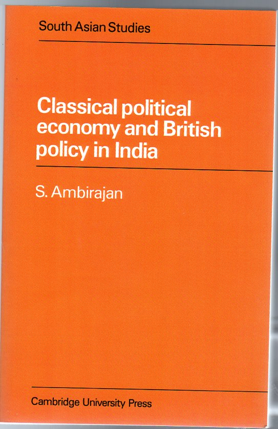 Image for Classical Political Economy and British Policy in India
