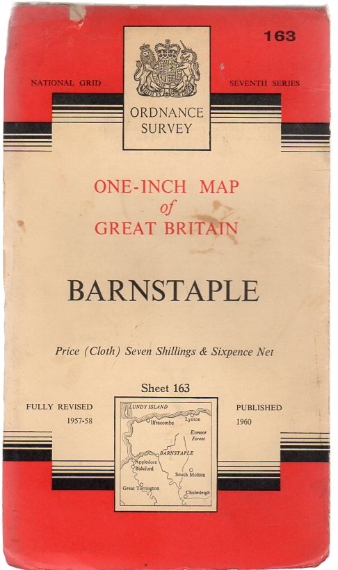 Image for Ordnance Survey  One-Inch Map of Great Britain -  Barnstaple - Sheet 163