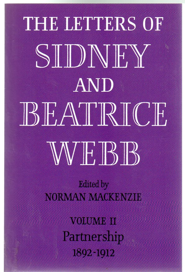 Image for The Letters of Sidney and Beatrice Webb : Volume II - Apprenticeships 1892-1912