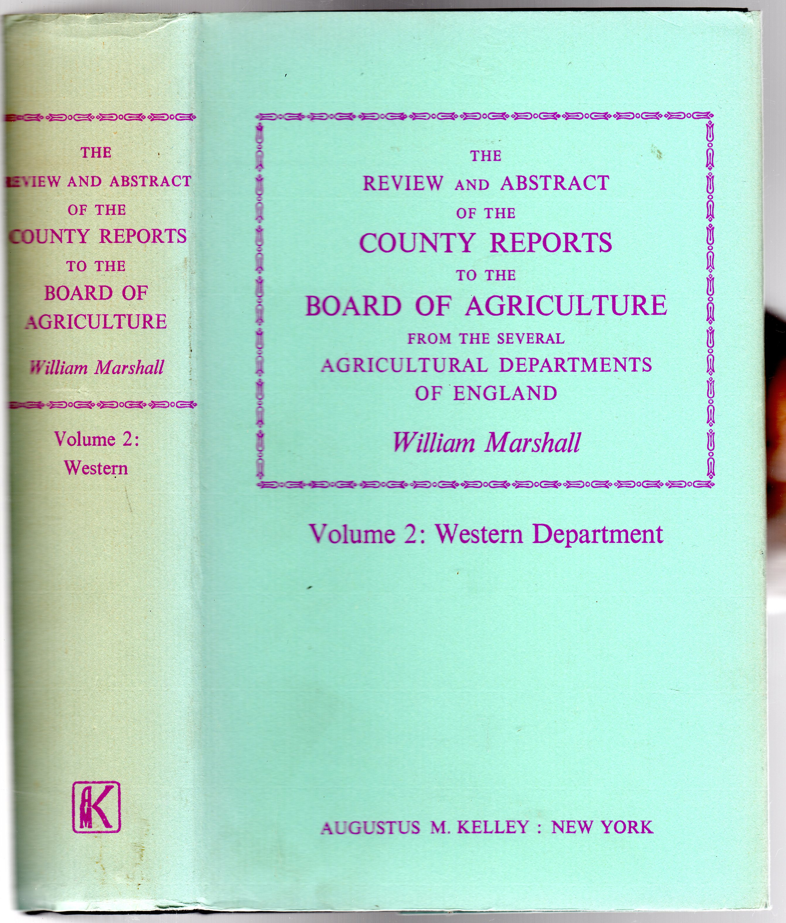 Image for The Review and Abstract of the County Reports to the Board of Agriculture : Volume 2 - Western Department.
