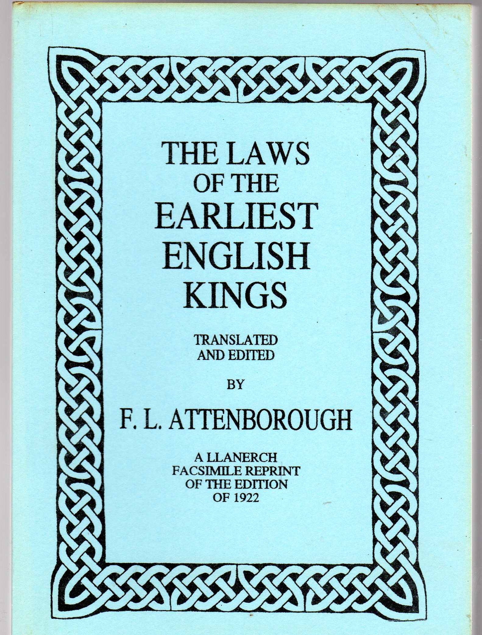 Image for The Laws of the Earliest English Kings