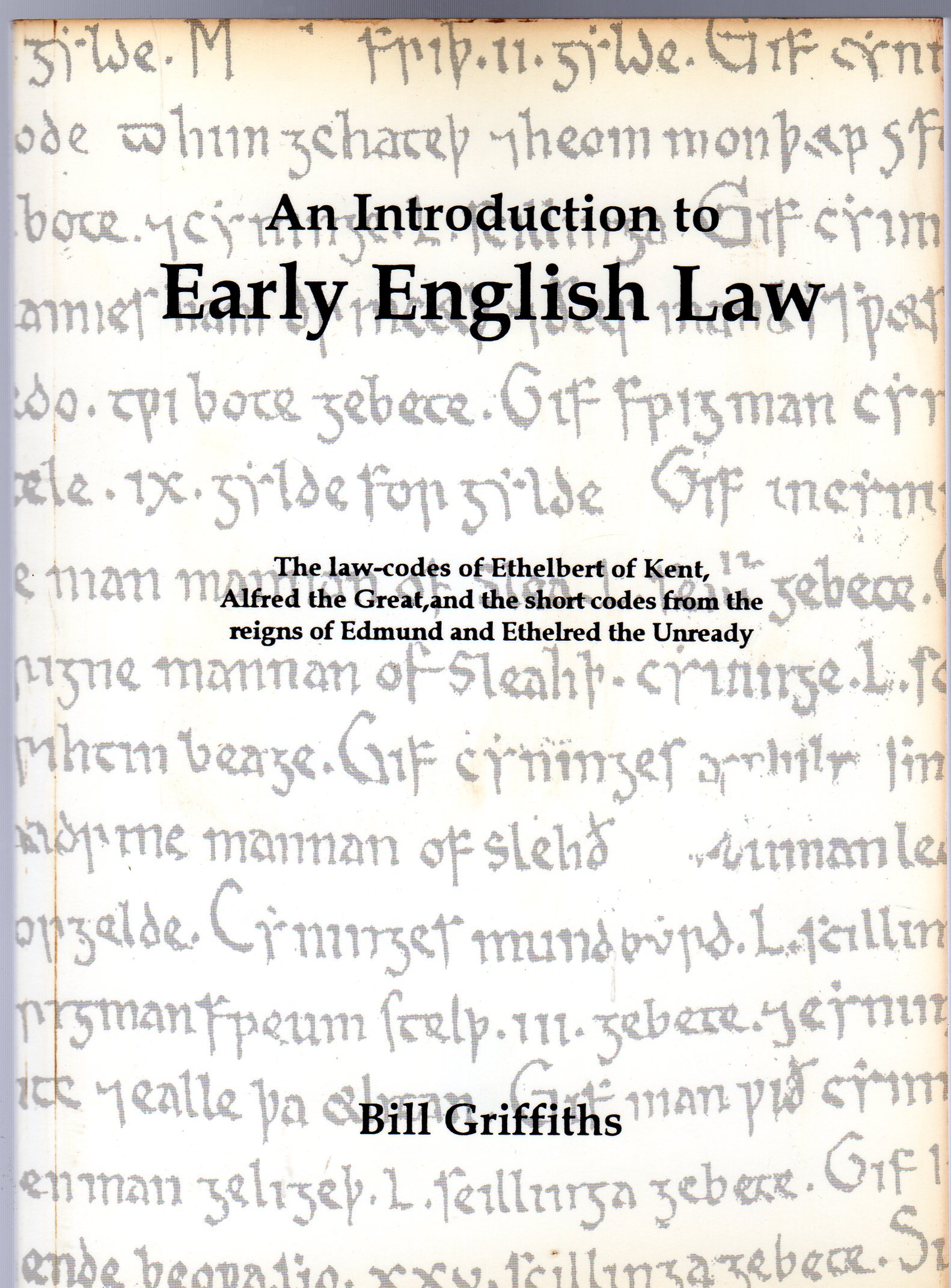 Image for An Introduction to Early English Law