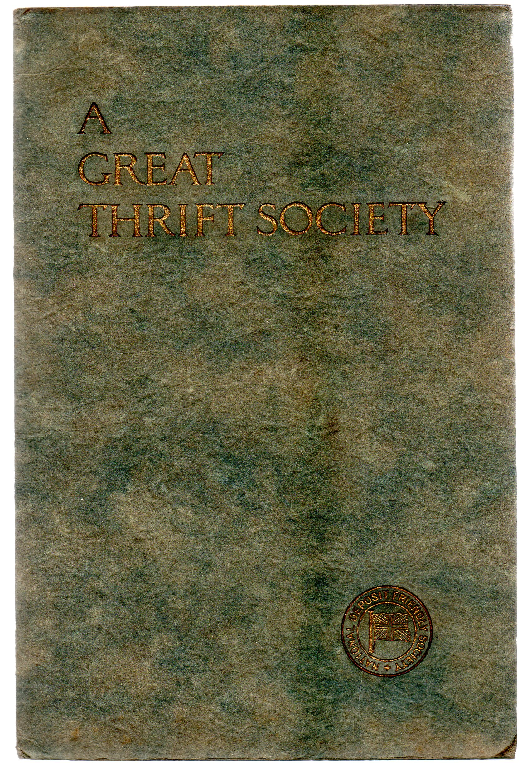 Image for A Great Thrift Society