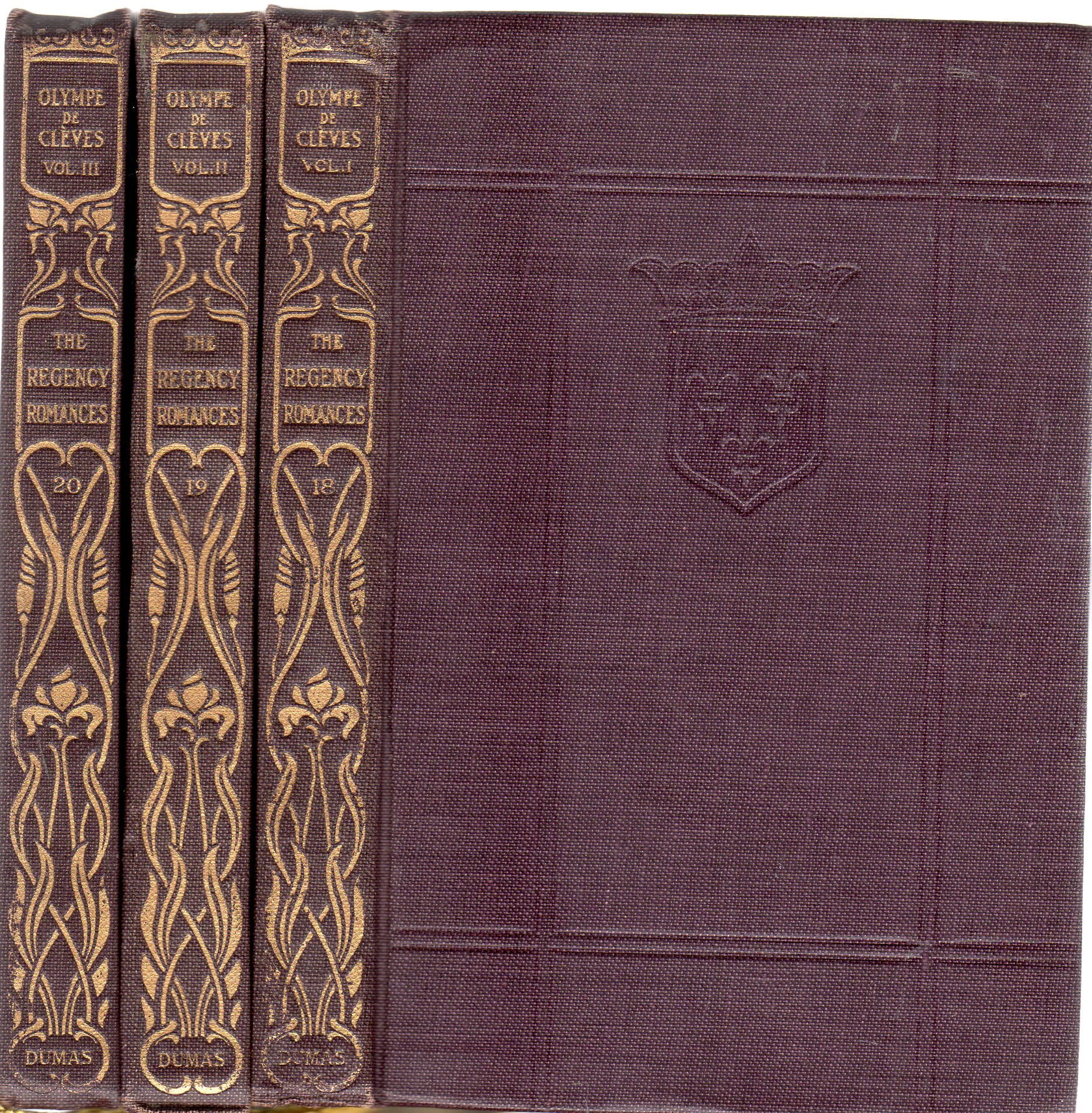 Image for Olympe De Cleves (3 volumes) The Romances of Alexandre Dumas No 18, 19, 20