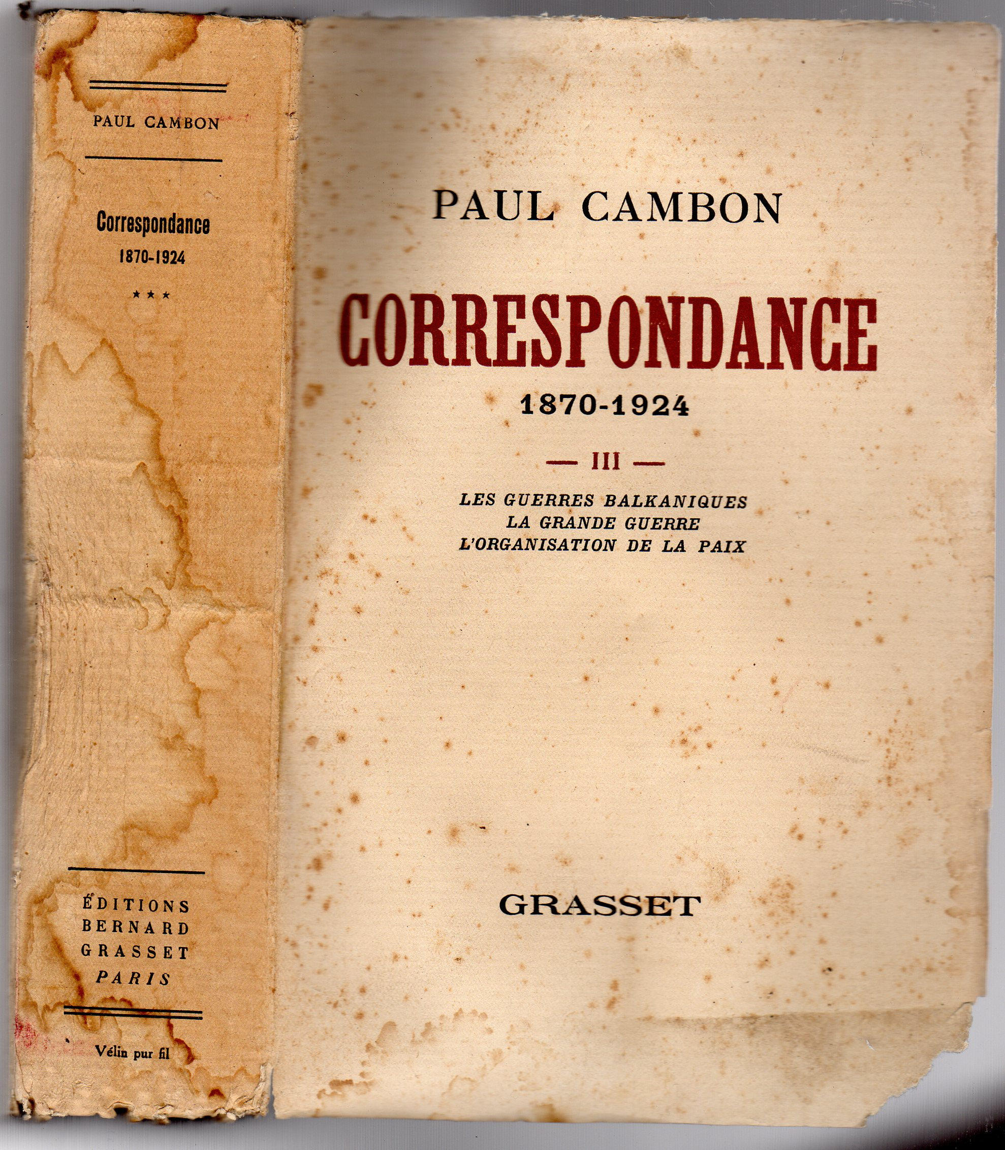 Image for Correspondance 1870-1924 Volume  III