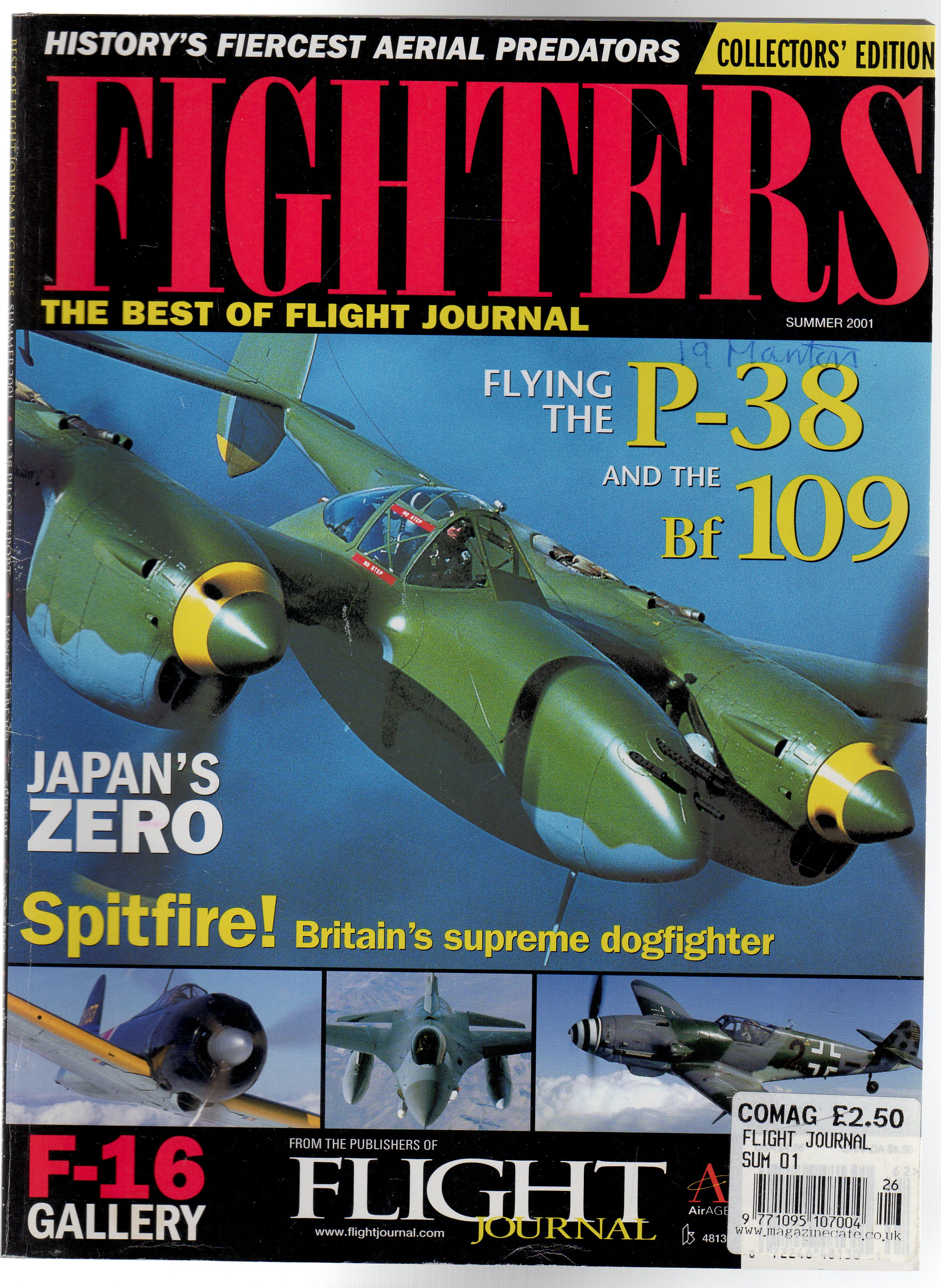 Image for Fighters the Best of Flight Journal Collectors Edition Summer 1991l