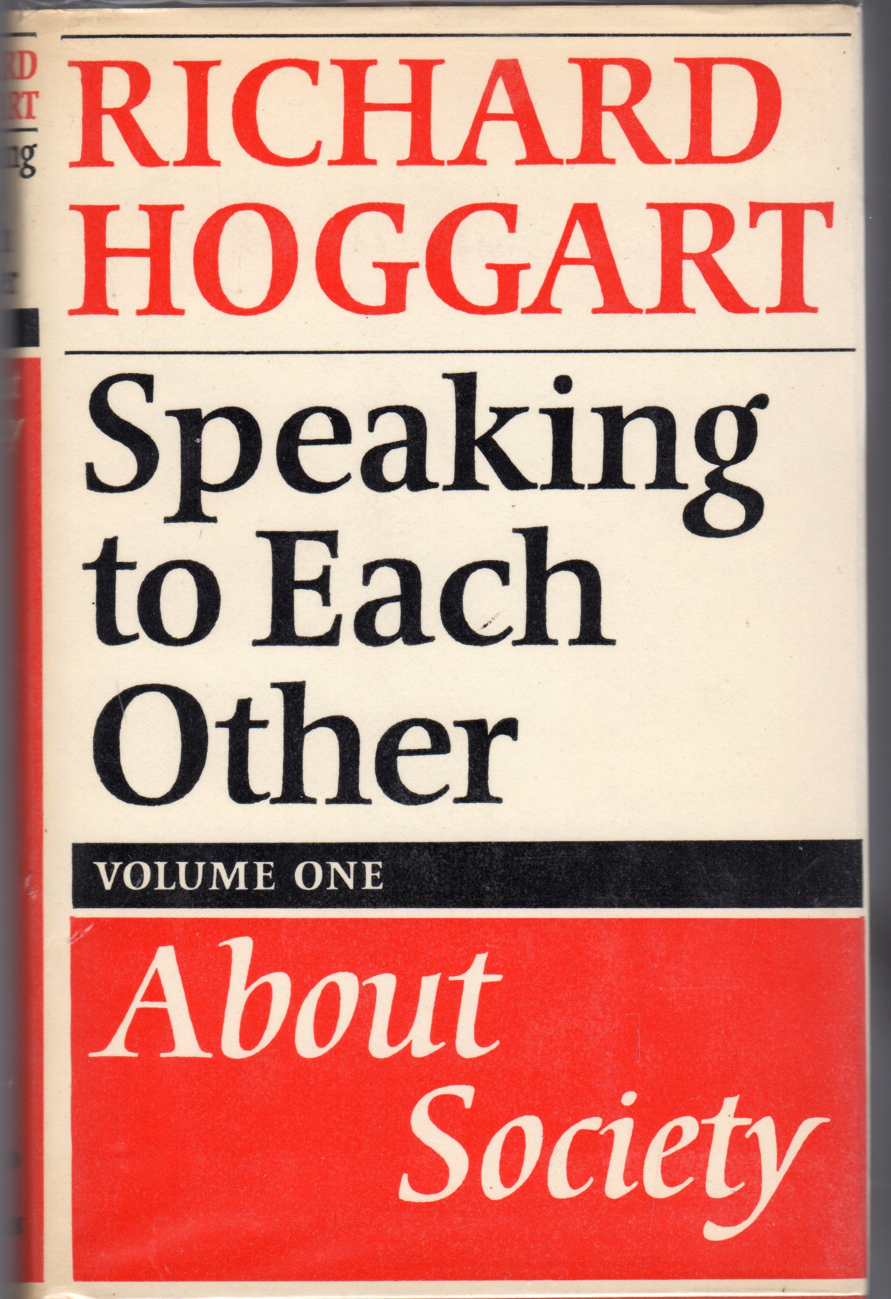 Image for Speaking to Each Other Volume I - About Society