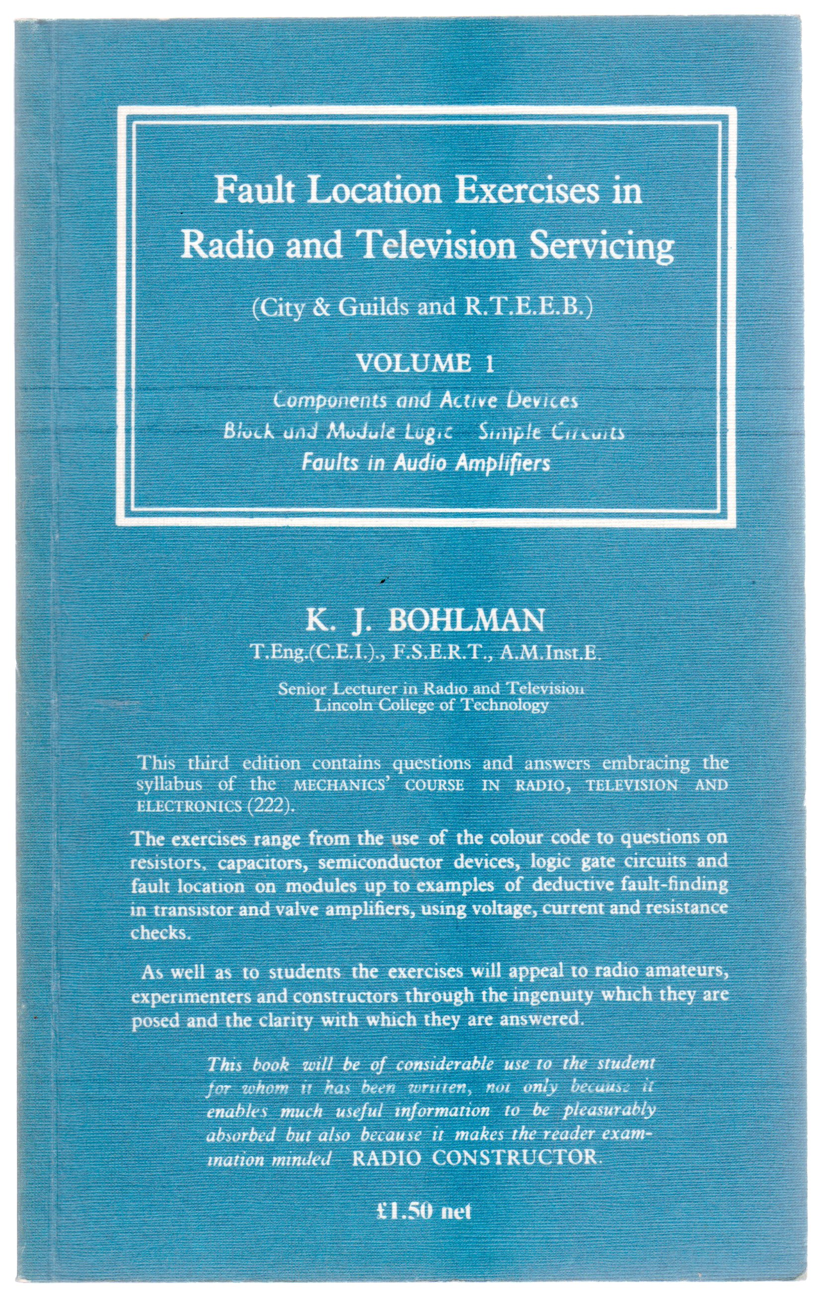 Image for Fault Location Exercises in Radio and Television Servicing : Volume 1