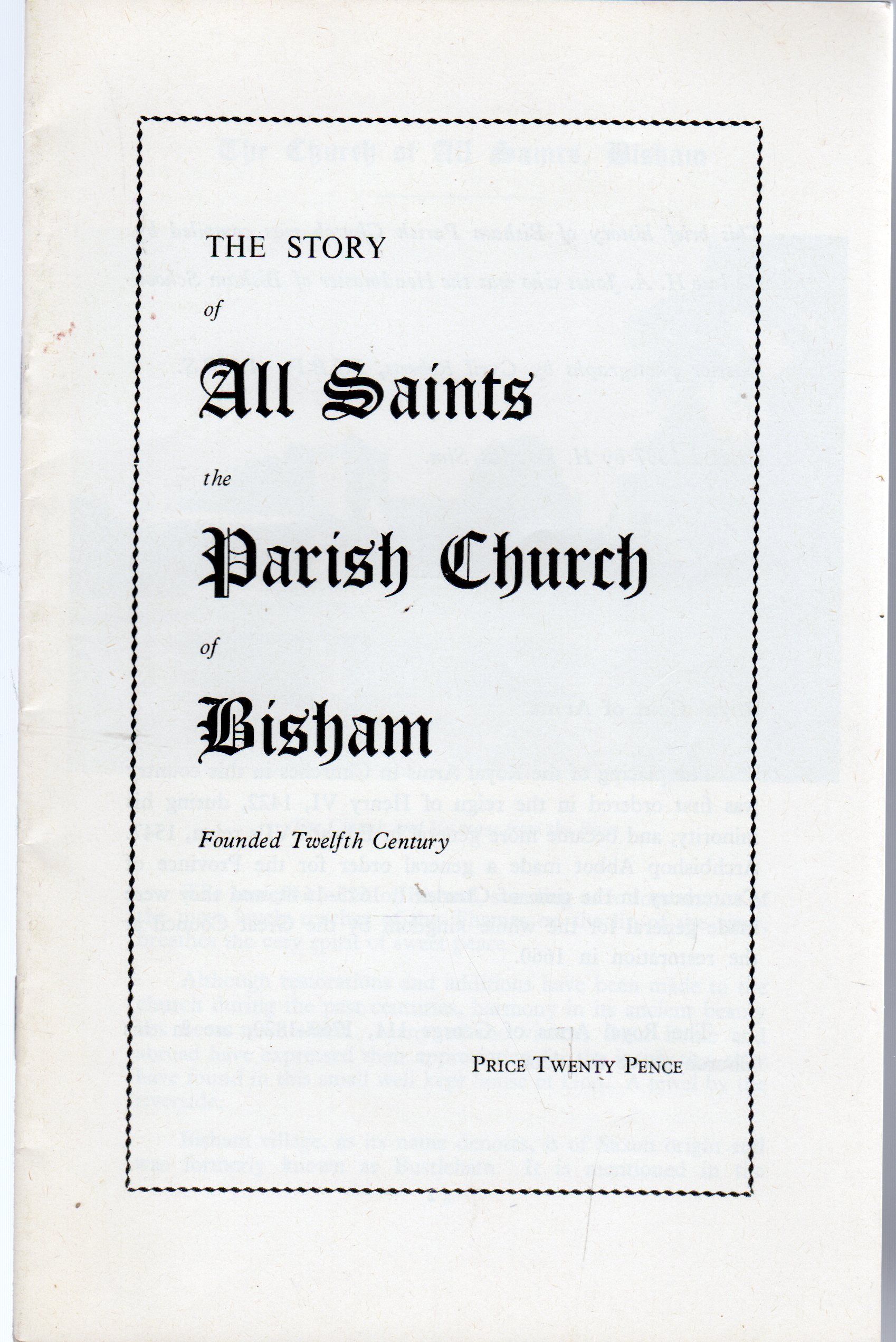 Image for The Story of All Saints the Parish Church of Bisham