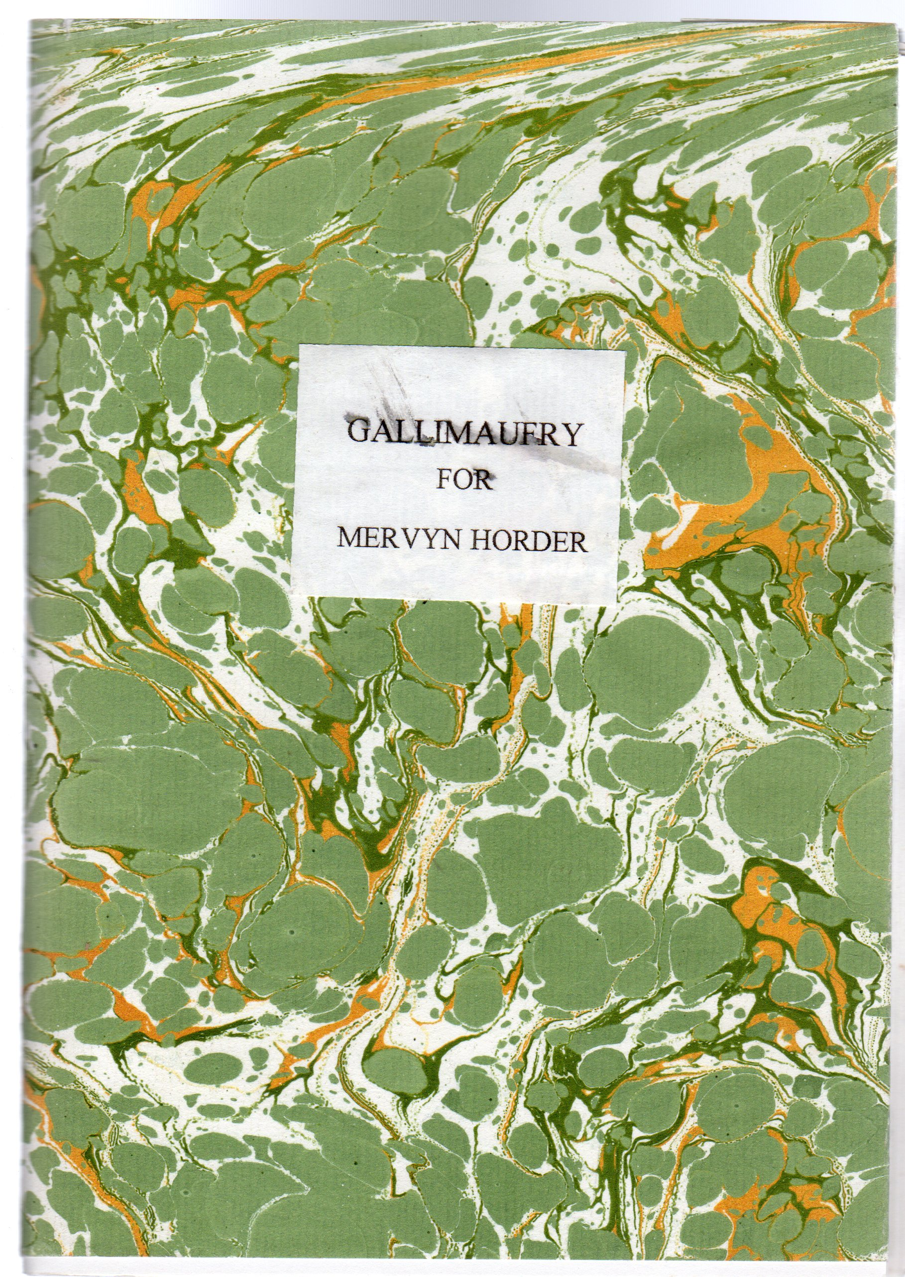 Image for Gallimaufry Dished Up for Mervyn Horder
