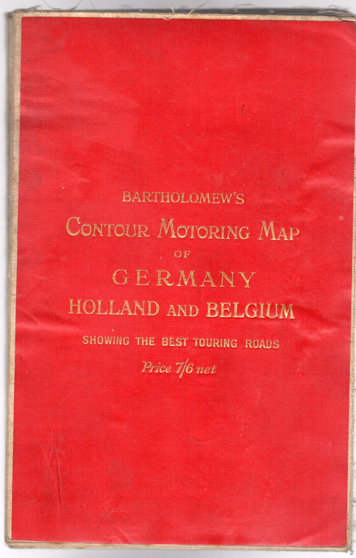 Image for Bartholomew's Countour Motoring Map of Germany, Holland and Belgium