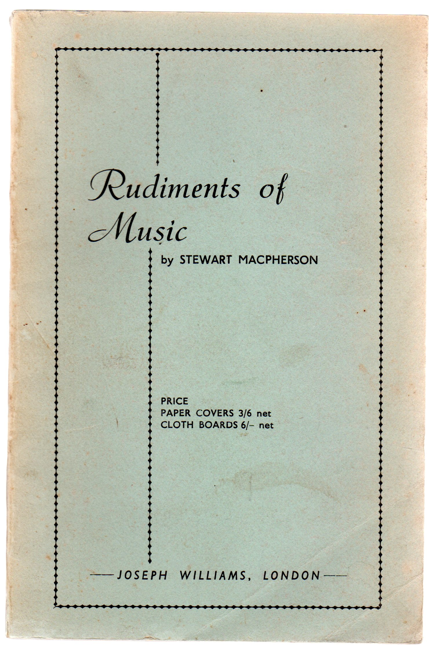 Image for Rudiments of Music