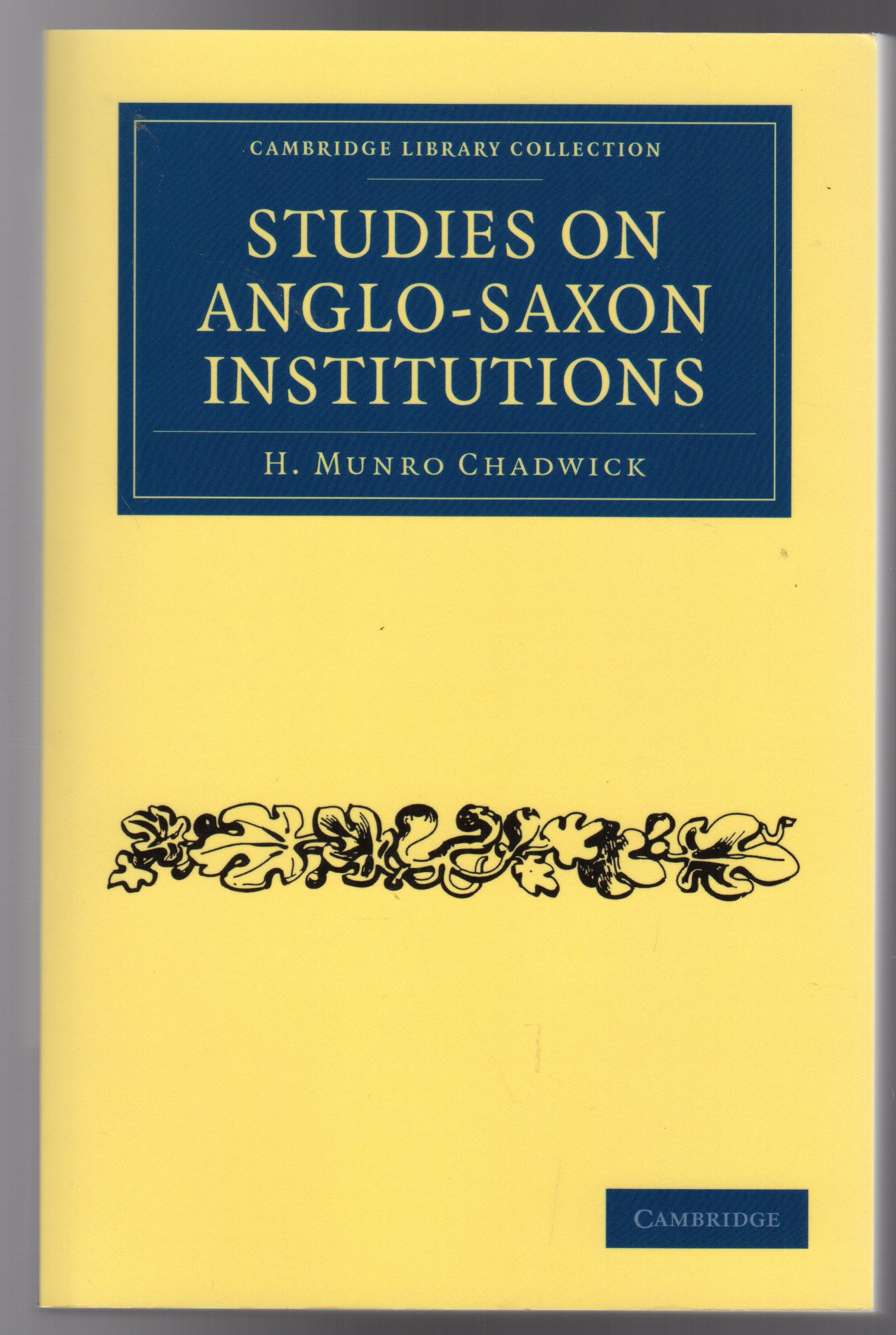 Image for Studies on Anglo-Saxon Institutions