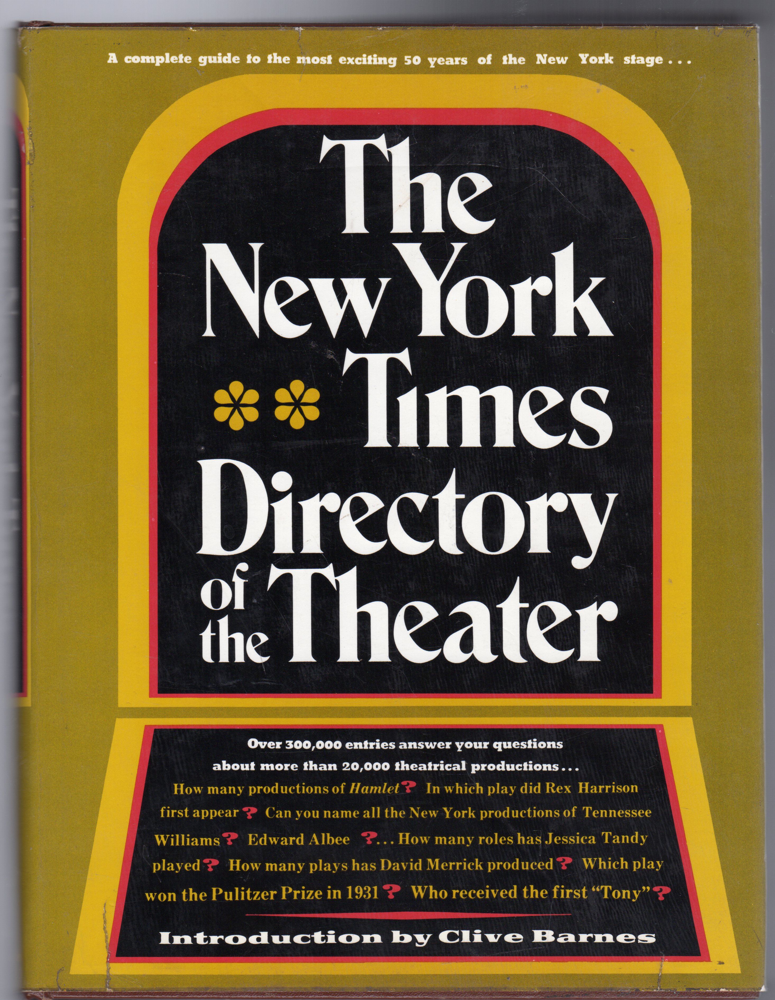 Image for The New York Times Directory of the Theater
