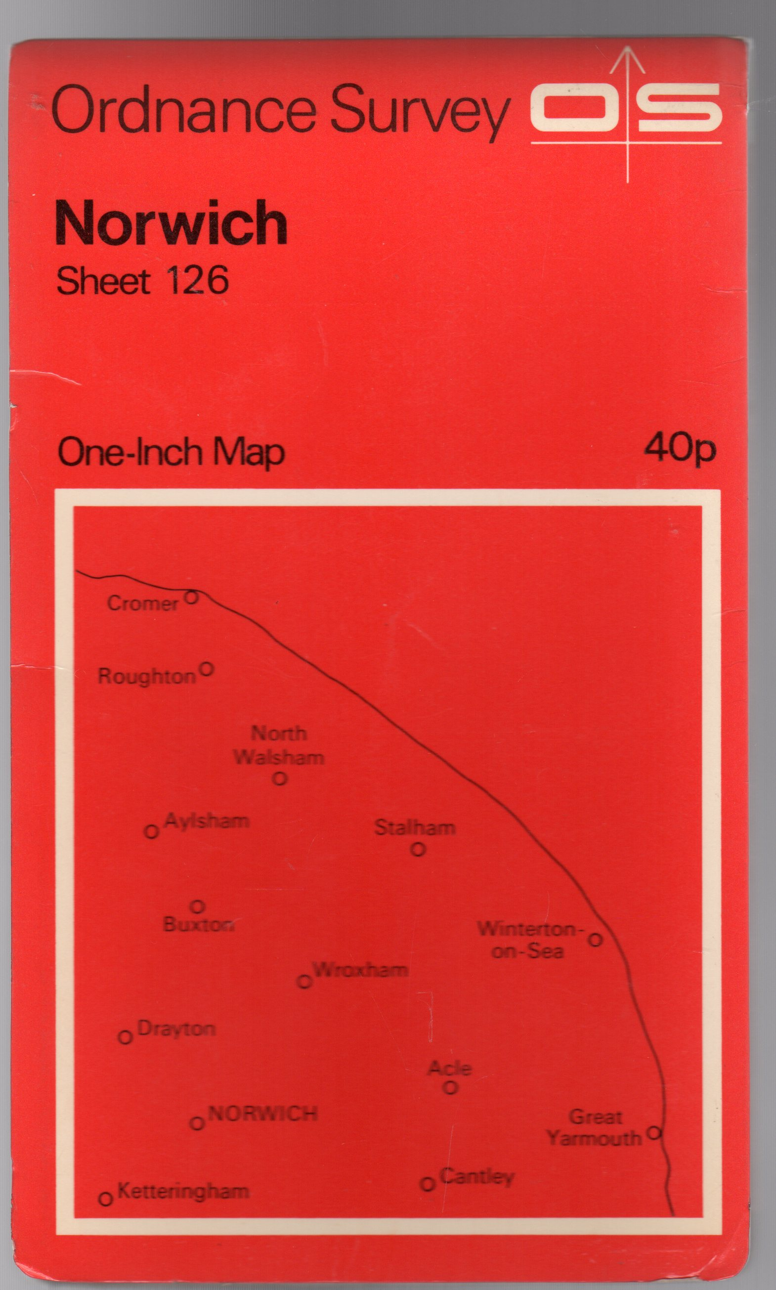 Image for Ordnance Survey  One-Inch Map  Sheet 126 Norwich