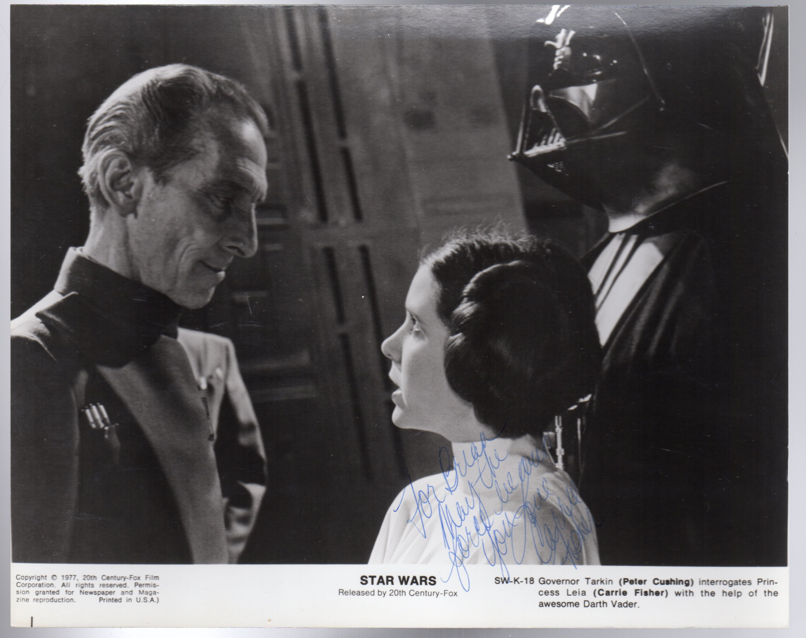Image for Carrie Fisher - Star Wars SIGNED PHOTOGRAPH