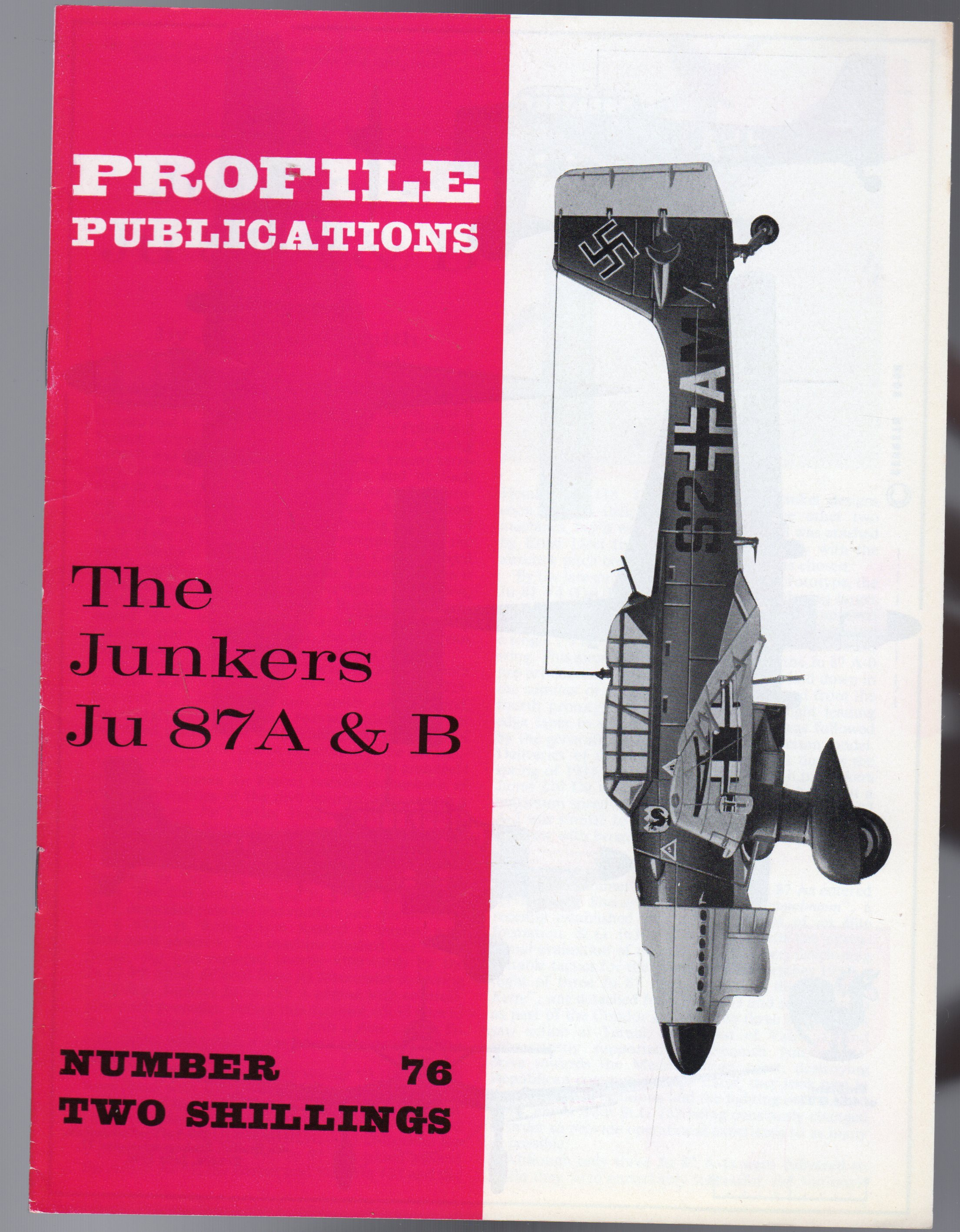 Image for The Junkers Ju 87A & B- Profile Publications No 76