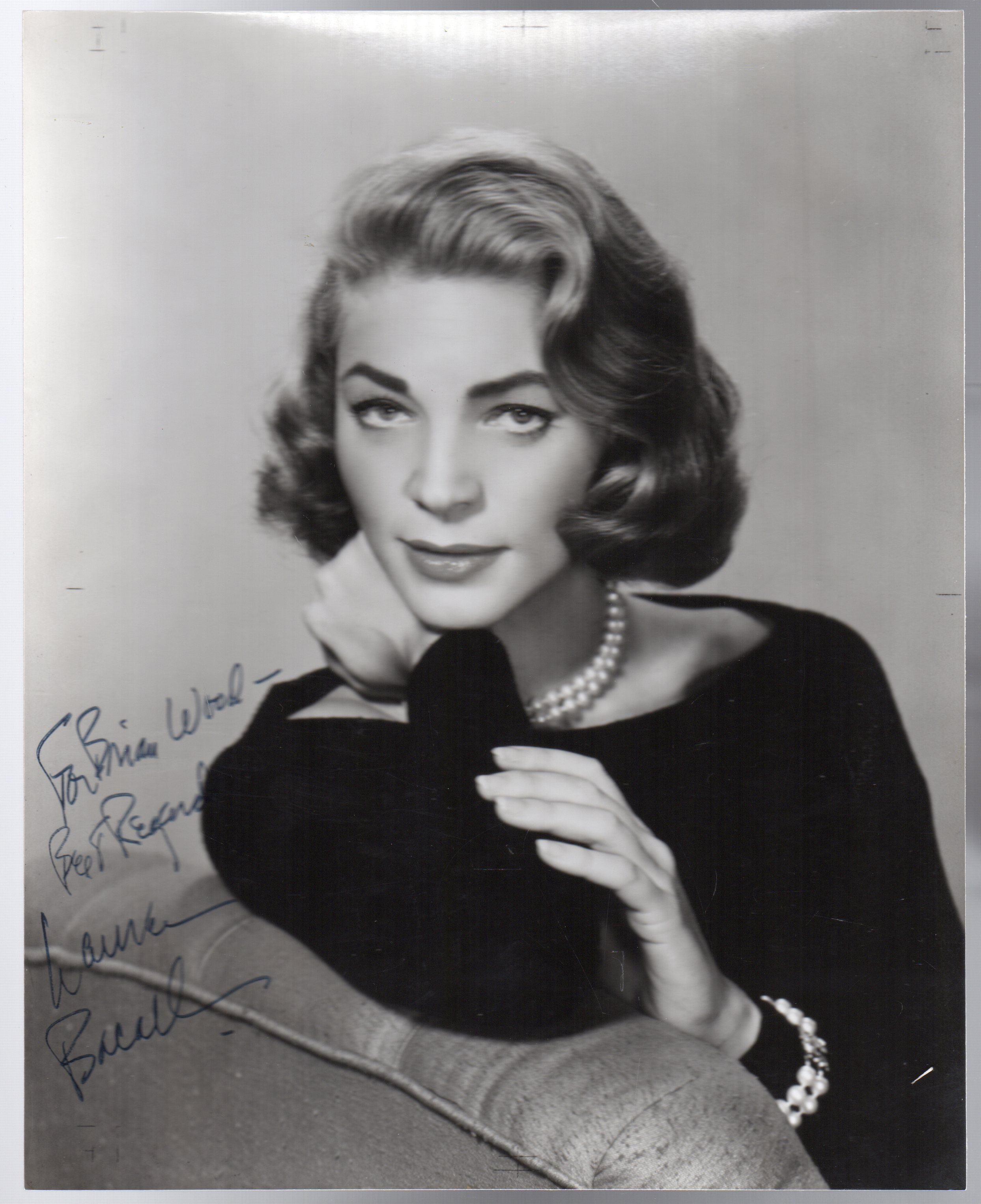 Image for Lauren Bacall -SIGNED PHOTOGRAPH