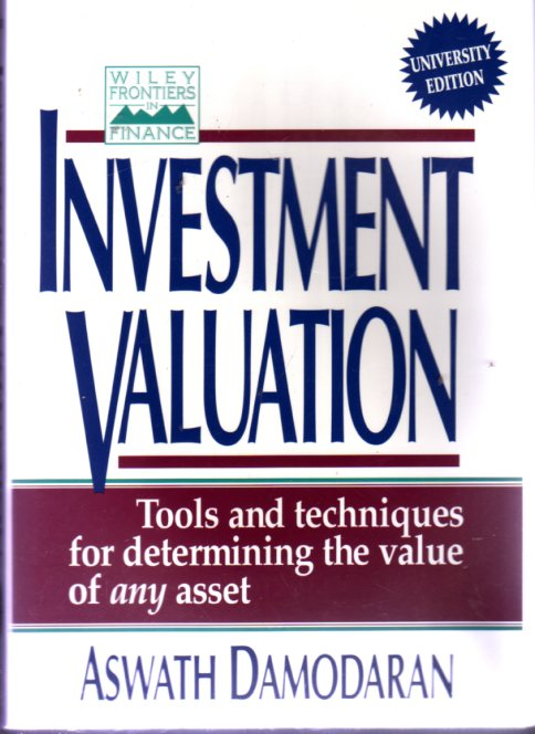 Image for Investment Valuations : Tools and Techniques for Determining the Value of Any Asset