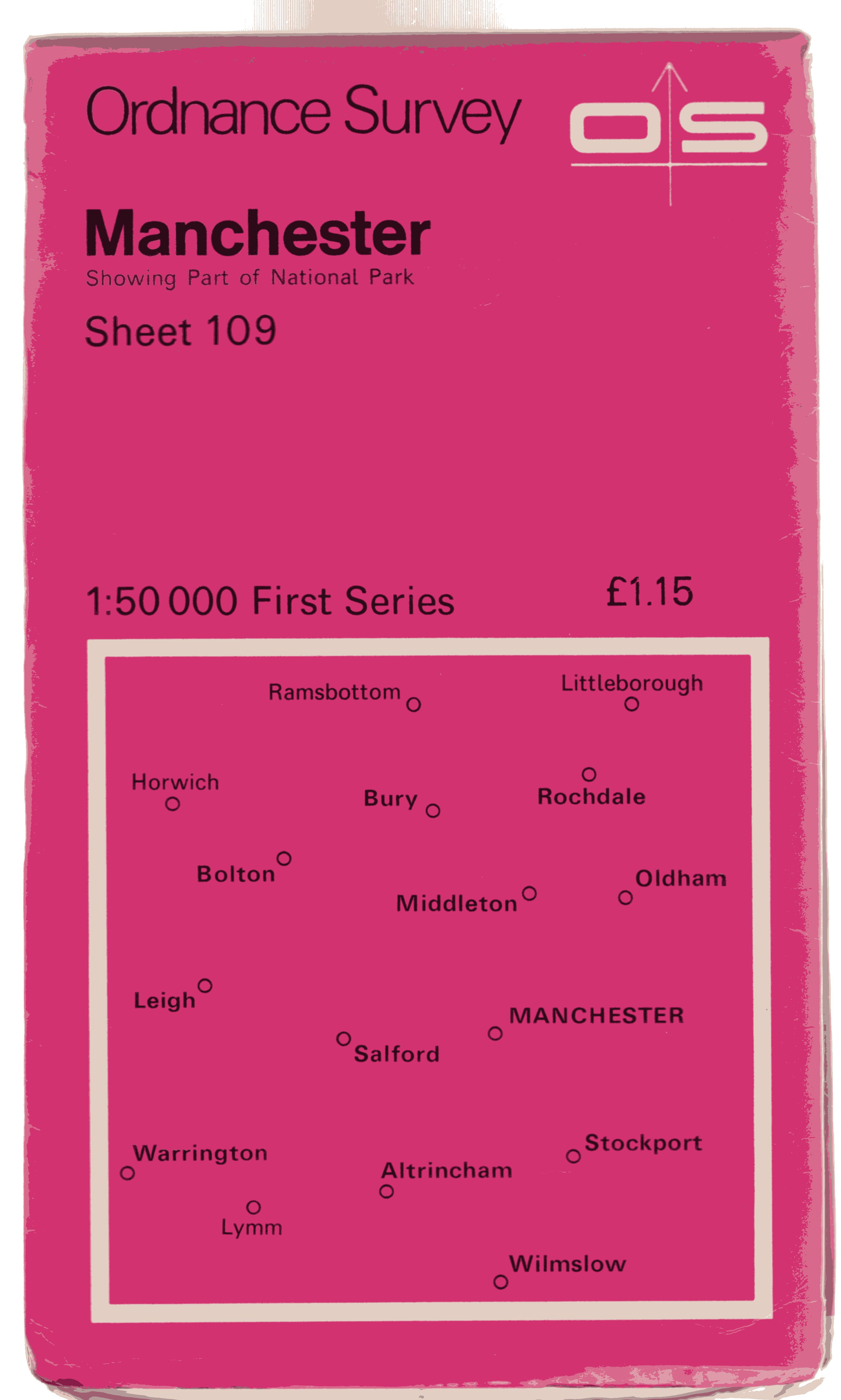 Image for Ordnance Survey Sheet 109 Manchester